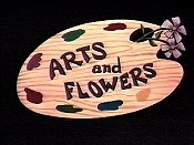 Arts And Flowers Cartoon Picture