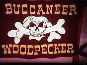 Buccaneer Woodpecker Free Cartoon Picture