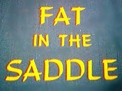 Fat In The Saddle Picture Of The Cartoon