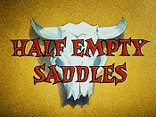 Half Empty Saddles Cartoon Picture