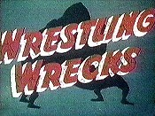Wrestling Wrecks Free Cartoon Picture