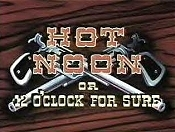 Hot Noon Or 12 O'clock For Sure Free Cartoon Pictures