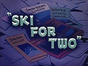 Ski For Two Cartoon Picture