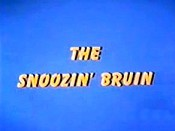 The Snoozin' Bruin Cartoon Character Picture