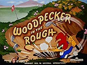 Woodpecker In The Rough Free Cartoon Picture