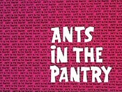 Ants In The Pantry Cartoon Picture