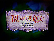 Pat On The Back Cartoon Picture
