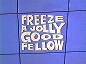 Freeze A Jolly Good Fellow Cartoon Character Picture