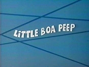 Little Boa Peep Cartoon Picture