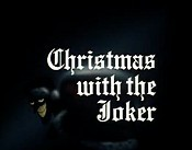 Christmas With The Joker Cartoon Character Picture