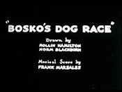 Bosko's Dog Race Pictures In Cartoon