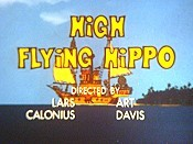 High Flying Hippo Cartoon Picture