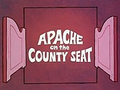 Apache On The County Seat Cartoon Picture