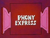 Phony Express Cartoon Picture