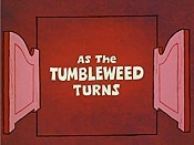 As The Tumbleweed Turns Free Cartoon Picture