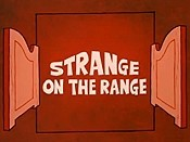 Strange On The Range Picture Of Cartoon