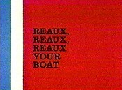 Reaux, Reaux, Reaux Your Boat Cartoon Character Picture