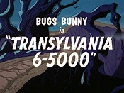 Transylvania 6-5000 Cartoon Character Picture