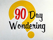 90 Day Wondering Cartoon Picture