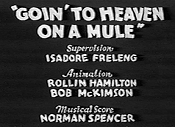 Goin' To Heaven On A Mule Video