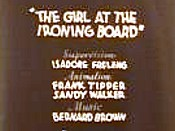 The Girl At The Ironing Board
