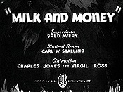 Milk And Money Cartoon Picture