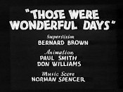 Those Were Wonderful Days Video