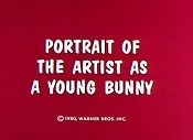 Portrait Of The Artist as A Young Bunny Cartoon Character Picture
