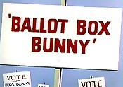 Ballot Box Bunny Cartoon Picture