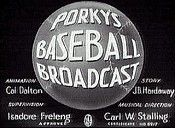 Porky's Baseball Broadcast Cartoon Picture