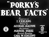 Porky's Bear Facts Cartoon Picture