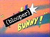 (blooper) Bunny! Cartoon Character Picture