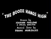 The Booze Hangs High Free Cartoon Picture