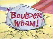 Boulder Wham! Picture Of Cartoon