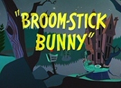Broom-Stick Bunny Cartoon Picture