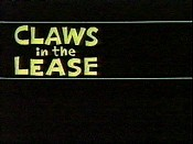 Claws In The Lease Cartoon Picture