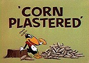 Corn Plastered Cartoon Picture