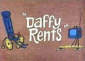 Daffy Rents Picture Into Cartoon