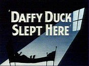 Daffy Duck Slept Here Cartoon Picture