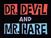 Dr. Devil And Mr. Hare Picture To Cartoon