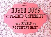 The Dover Boys At Pimento University Or The Rivals Of Roquefort Hall Pictures To Cartoon