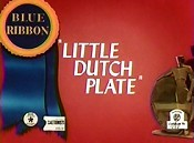 Little Dutch Plate Free Cartoon Picture