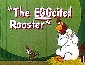The EGGcited Rooster Picture Into Cartoon