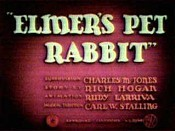 Elmer's Pet Rabbit Cartoon Picture