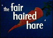 The Fair Haired Hare Cartoon Picture