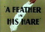 A Feather In His Hare Cartoon Picture