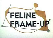 Feline Frame-Up Cartoon Picture
