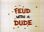 Feud With A Dude Cartoon Character Picture