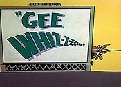 Gee Whiz-z-z-z Cartoon Picture