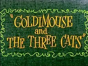 Goldimouse And The Three Cats Picture Of Cartoon